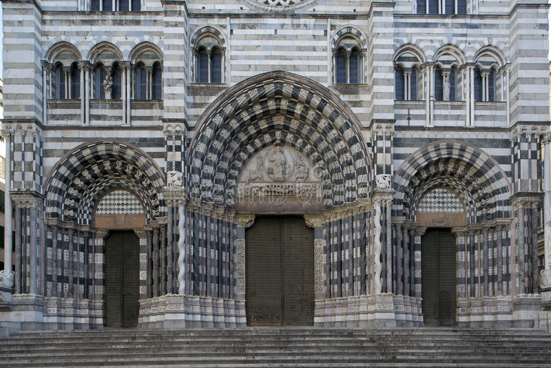 SAN Lorenzo, ο καθεδρικός ναός της Γένοβας στοκ φωτογραφία