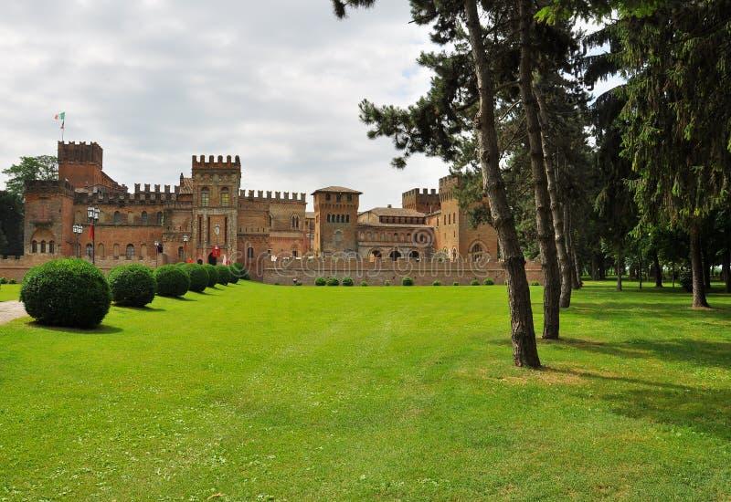 San Lorenzo castle, Torre dei Picenardi, Italy. The medieval castle of San Lorenzo in Torre dei Picenardi, province Cremona, Italy stock photos