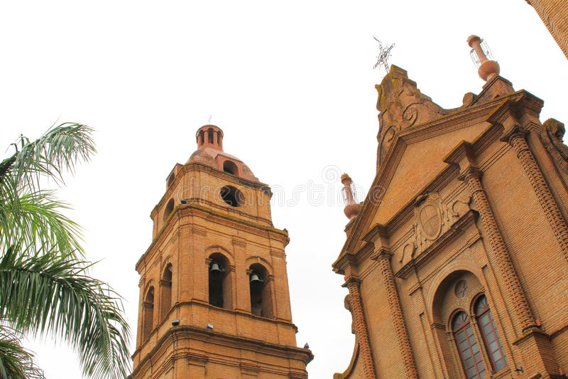 San Lorenzo cathedral in Santa Cruz de la Sierra, Bolivia. During summer stock photos