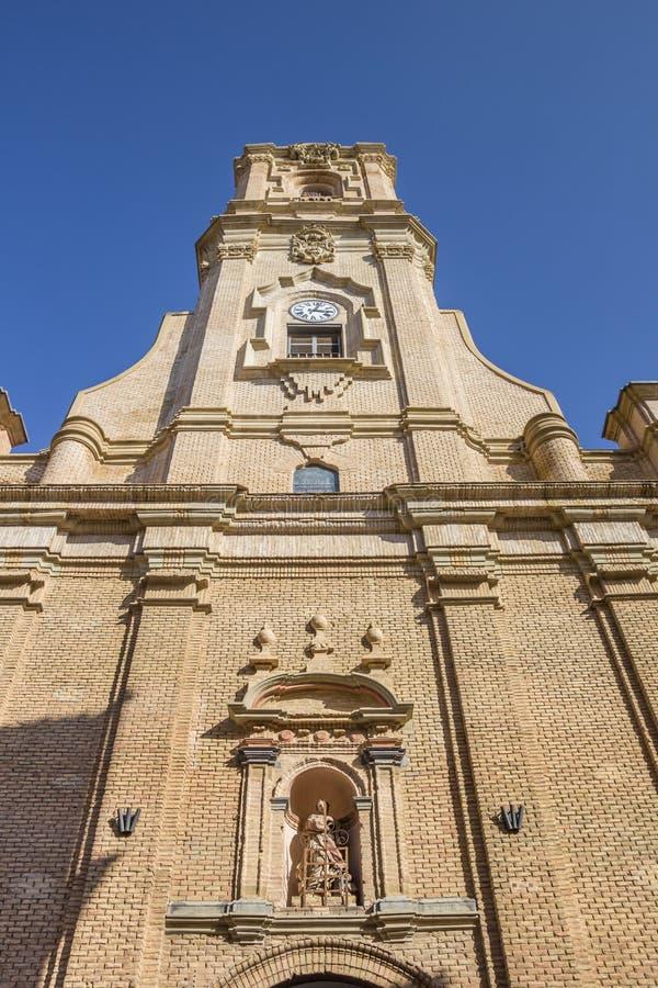 San Lorenzo church in the center of Huesca city. Spain stock photos