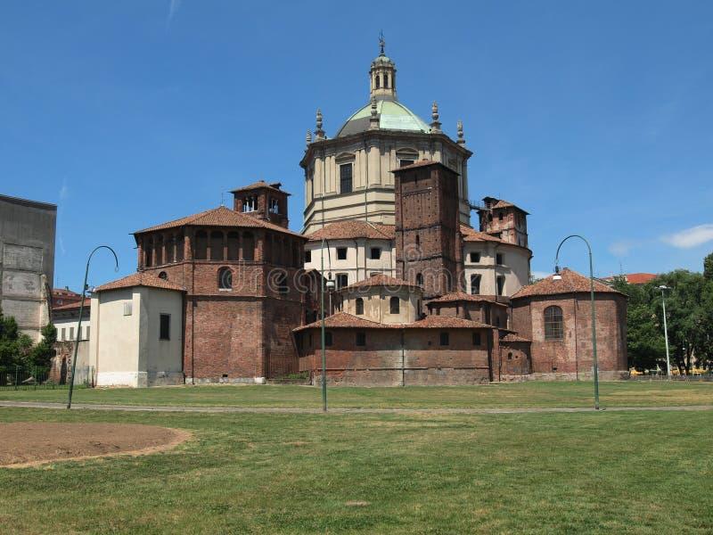 San Lorenzo church, Milan. Basilica of San Lorenzo in Milan, Italy royalty free stock image
