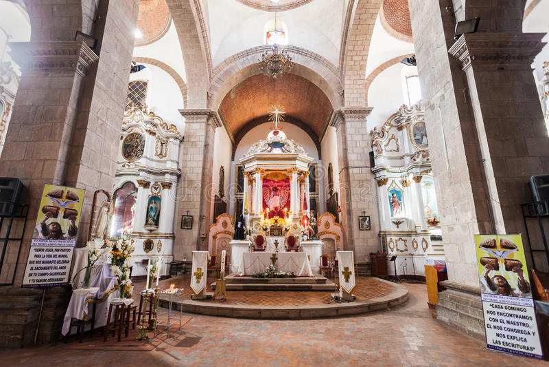 San Lorenzo Church. POTOSI, BOLIVIA - MAY 21, 2015: San Lorenzo Church (Iglesia de San Lorenzo) interior, located in Potosi, Bolivia royalty free stock photo