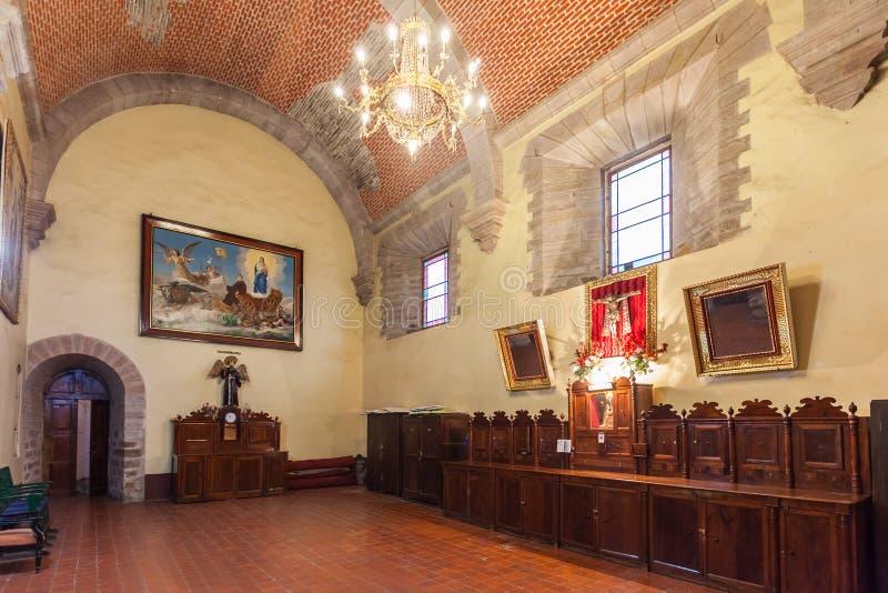 San Lorenzo Church. POTOSI, BOLIVIA - MAY 21, 2015: Inside San Lorenzo Church (Iglesia de San Lorenzo), located in Potosi, Bolivia stock photo