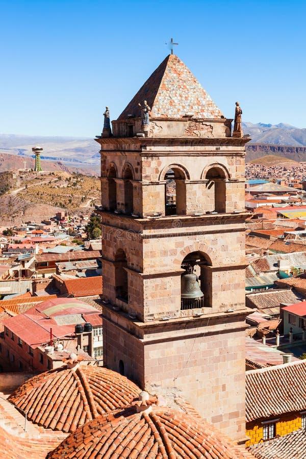 San Lorenzo Church. Is located in Potosi, Bolivia stock image