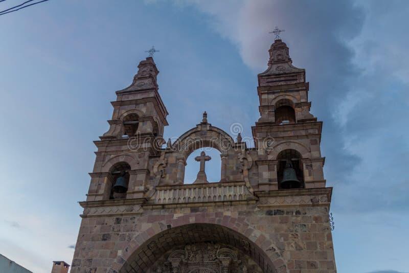 San Lorenzo de Carangas church in Potosi. Bolivia stock image