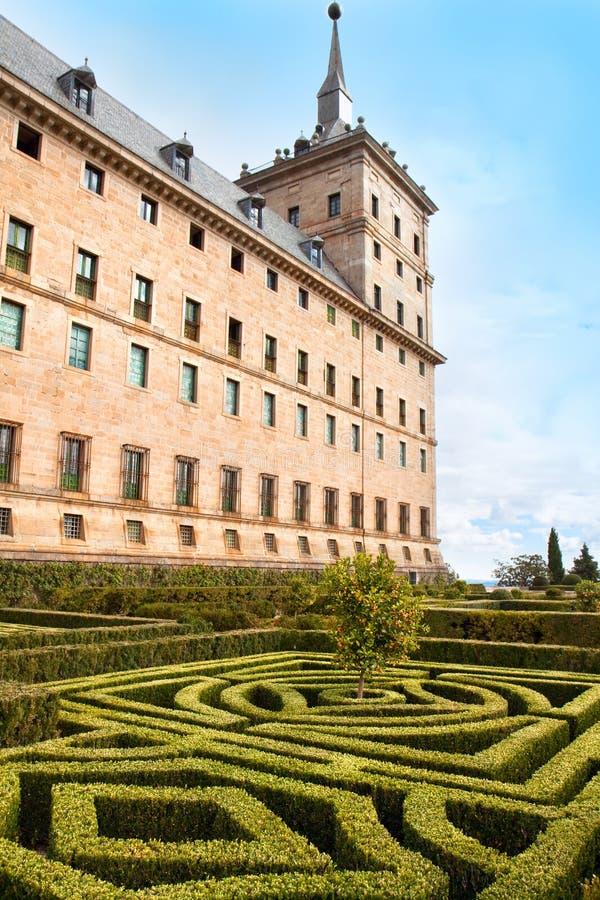 San Lorenzo de El Escorial皇家修道院  库存图片