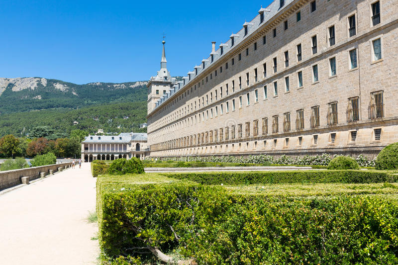 San Lorenzo de El Escorial - Spanje - Unesco stock afbeeldingen