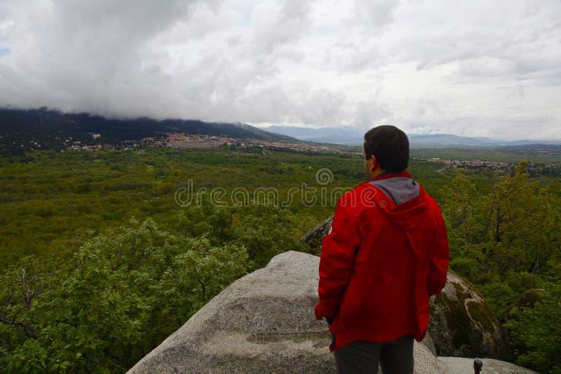 San Lorenzo del Escorial, Madrid, Espagne, le 7 mai 2019, vue de chaise de Felipe II photos libres de droits