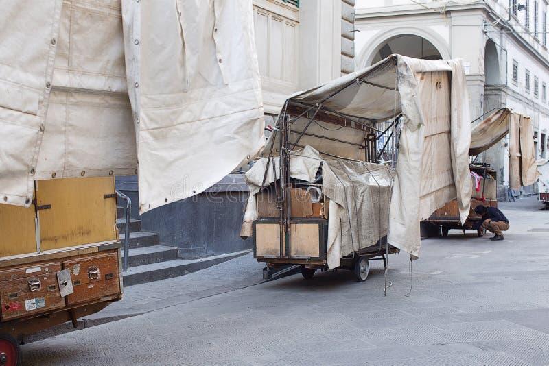 San Lorenzo Leather Market Florence lizenzfreie stockfotografie