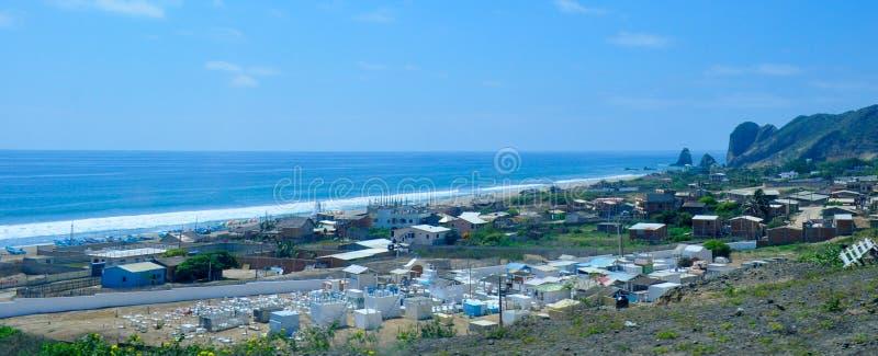 San Lorenzo town, near Manta city, Ecuador. View of San Lorenzo town, near Manta city, Ecuador royalty free stock photo
