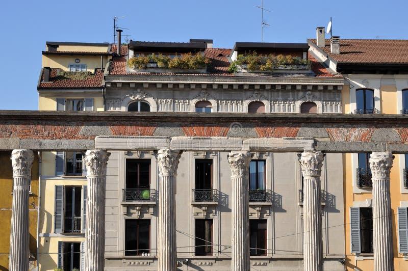 San- LorenzoSäulengang, Mailand stockbilder