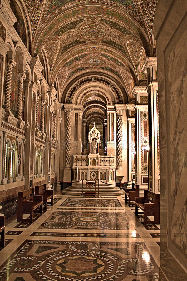 San Louis Cathedral Main Side Alter fotografia stock