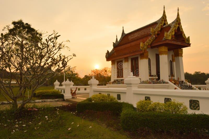 San Luang Pho Sing Temple ,Prachin Buri,Thailand. San Luang Pho Sing Temple and sky twilight ,Prachin Buri,Thailand stock photo
