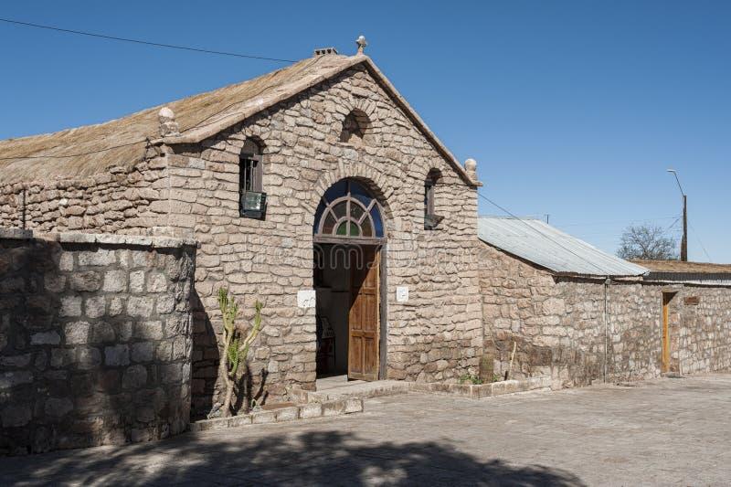San Lucas Church, Toconao, Cile immagini stock