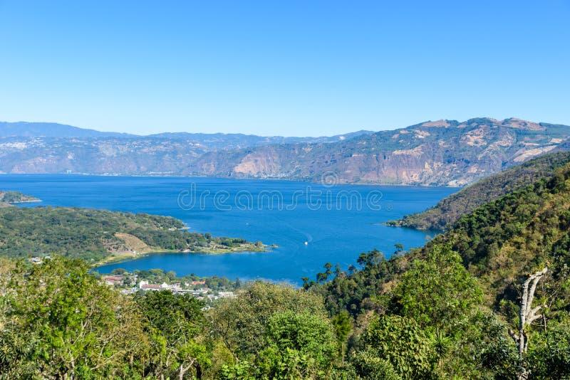 San Lucas Toliman - village at lake Atitlan, Department of Solola in Guatemala stock photography