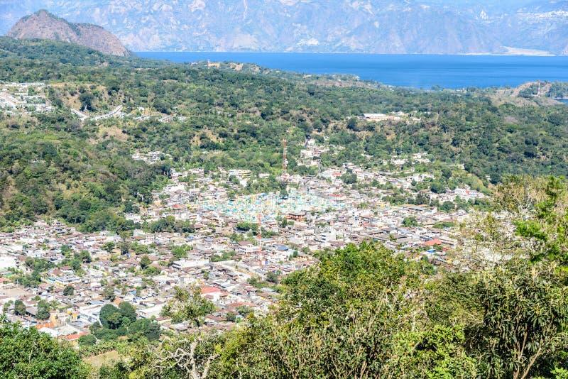 San Lucas Toliman - village at lake Atitlan, Department of Solola in Guatemala royalty free stock photos