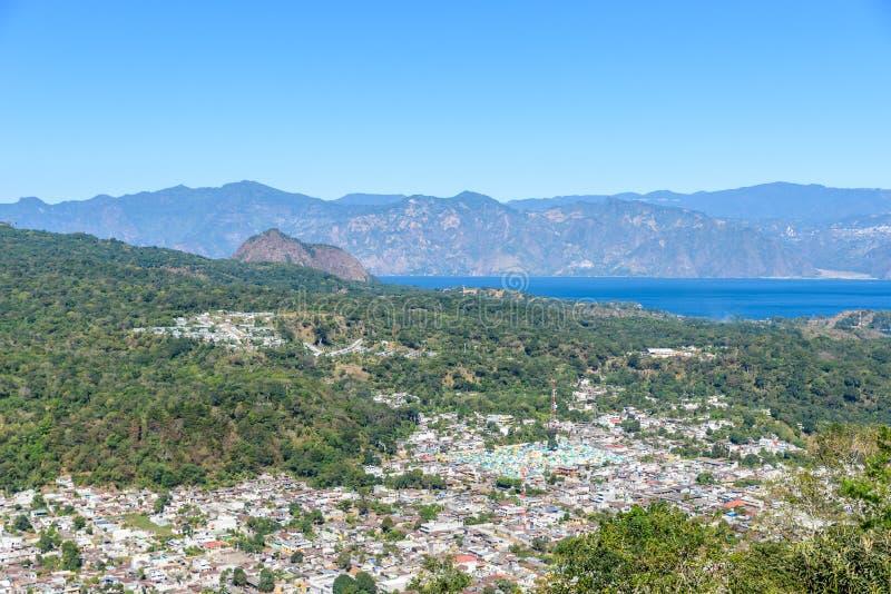San Lucas Toliman - village at lake Atitlan, Department of Solola in Guatemala stock images