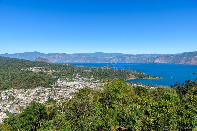 San Lucas Toliman - wioska przy jeziornym Atitlan, dzia? Solola w Gwatemala zdjęcia royalty free
