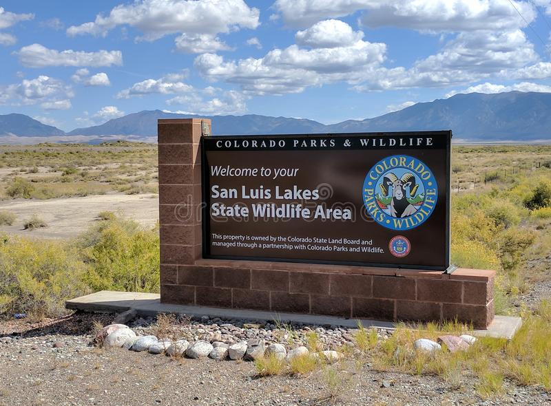 San Luis Lakes State Wildlife Area immagini stock libere da diritti