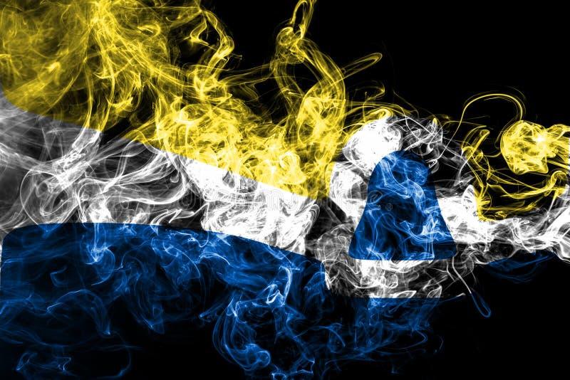 San Luis Obispo city smoke flag, California State, United States Of America vector illustration