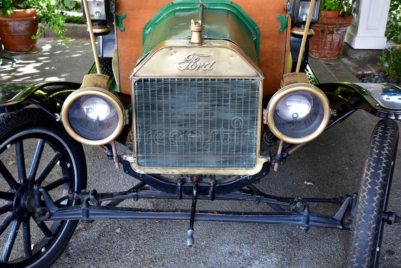 San Luis Obispo, USA - july 15 2016 : old car in apple farm hotel royalty free stock photos