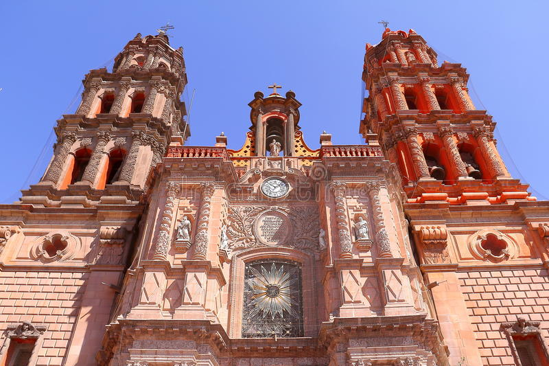 San luis potosi cathedral II royalty free stock images