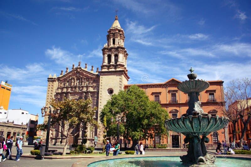 San Luis Potosi im Stadtzentrum gelegen stockbild