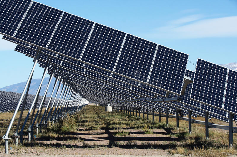San Luis Valley Solar Energy Royalty Free Stock Photography