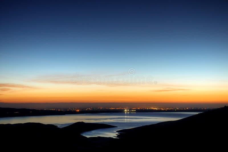 San Luis-Vorratsbehälter-Sonnenaufgang stockbilder