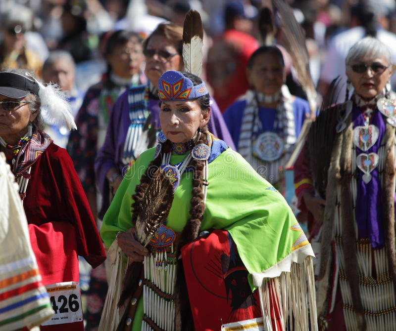 San Manuel Indians Pow Wow - 2012. SAN BERNARDINO, CALIFORNIA, USA, OCTOBER 13, 2012. The San Manuel Band of Indians hold their annual Pow Wow in San Bernardino royalty free stock image