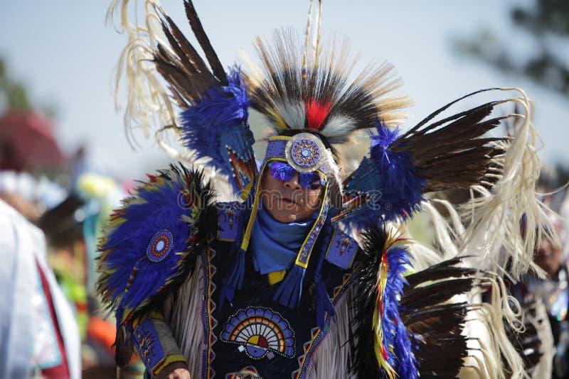 San Manuel Indians Pow Wow - 2012. SAN BERNARDINO, CALIFORNIA, USA, OCTOBER 13, 2012. The San Manuel Band of Indians hold their annual Pow Wow in San Bernardino royalty free stock photo