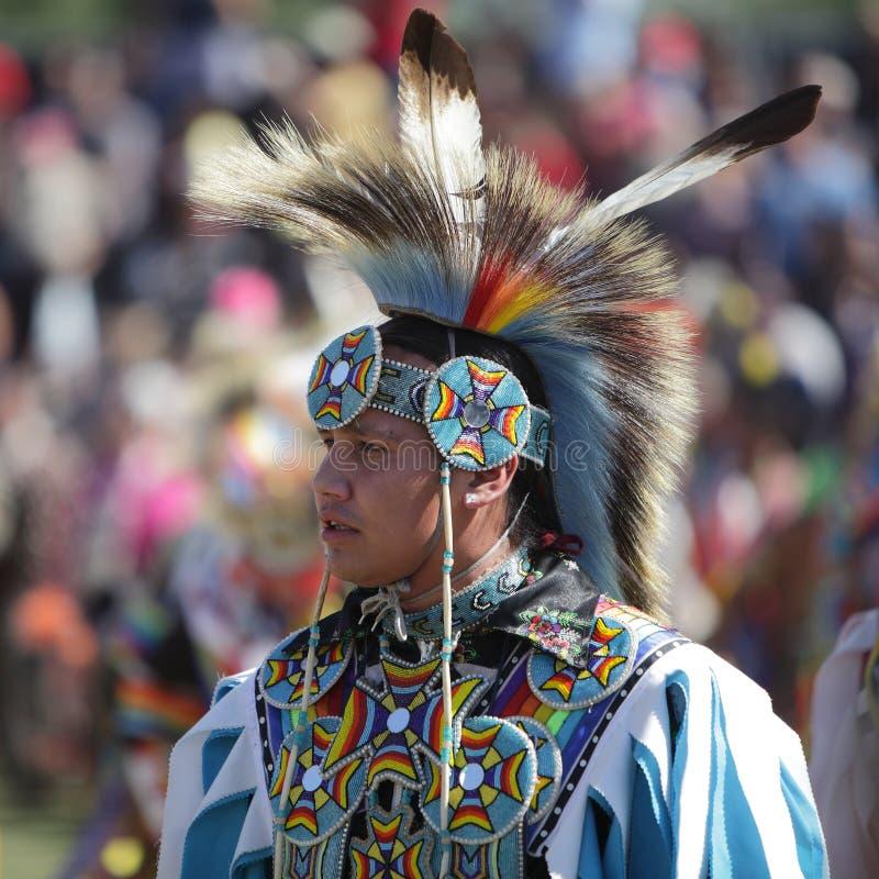 San Manuel Indians Pow Wow - 2012. SAN BERNARDINO, CALIFORNIA, USA, OCTOBER 13, 2012. The San Manuel Band of Indians hold their annual Pow Wow in San Bernardino royalty free stock photos