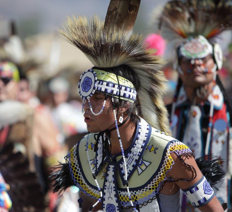 San Manuel Indians Pow Wow - 2012. SAN BERNARDINO, CALIFORNIA, USA, OCTOBER 13, 2012. The San Manuel Band of Indians hold their annual Pow Wow in San Bernardino stock photography