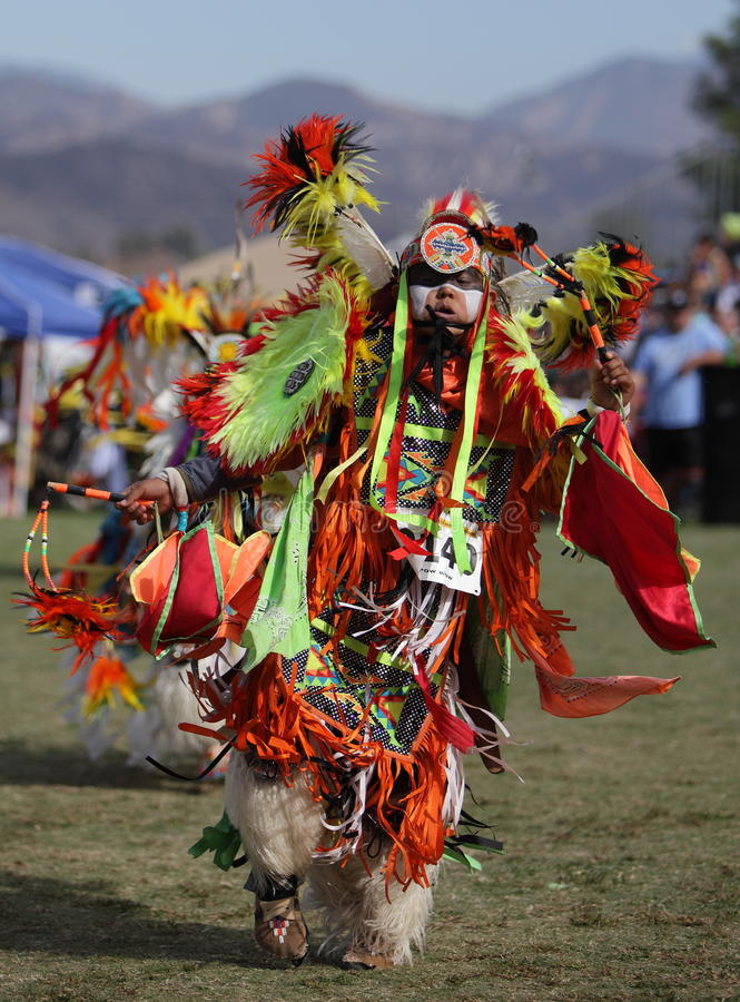 San Manuel Indians Pow Wow - 2012. SAN BERNARDINO, CALIFORNIA, USA, OCTOBER 13, 2012. The San Manuel Band of Indians hold their annual Pow Wow in San Bernardino stock images