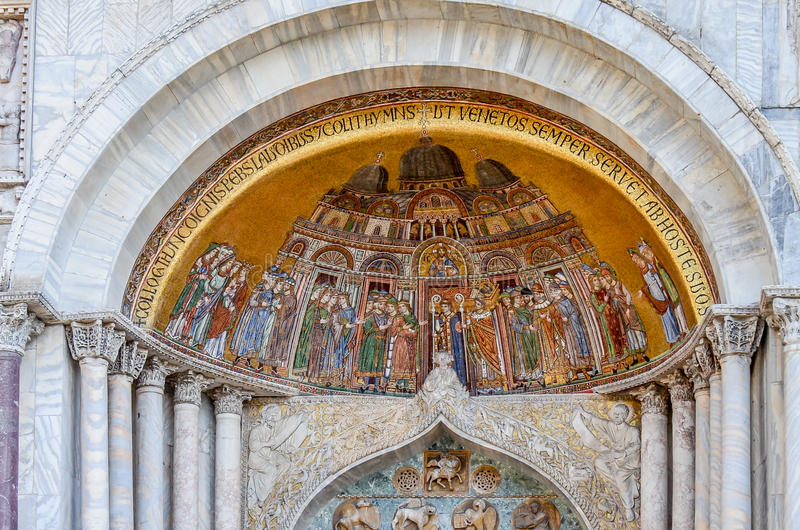 San Marco Basilica in Venice stock images