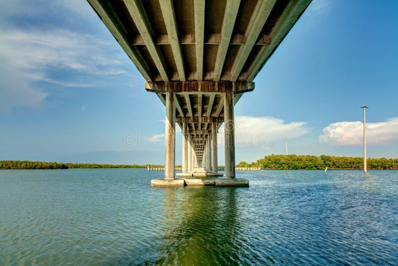 San Marco Bridge. Highway 92 bridge over Goodland Bay leading to Marco Island in Florida stock images