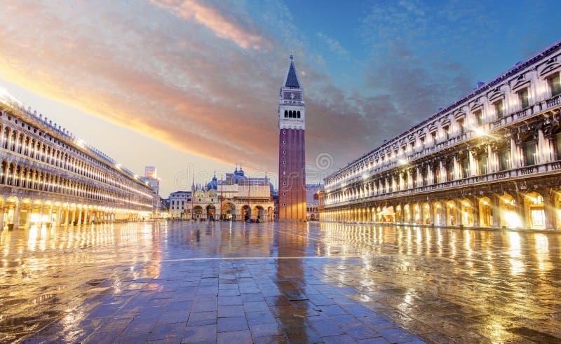 San Marco kwadrat, Wenecja Włochy obrazy stock