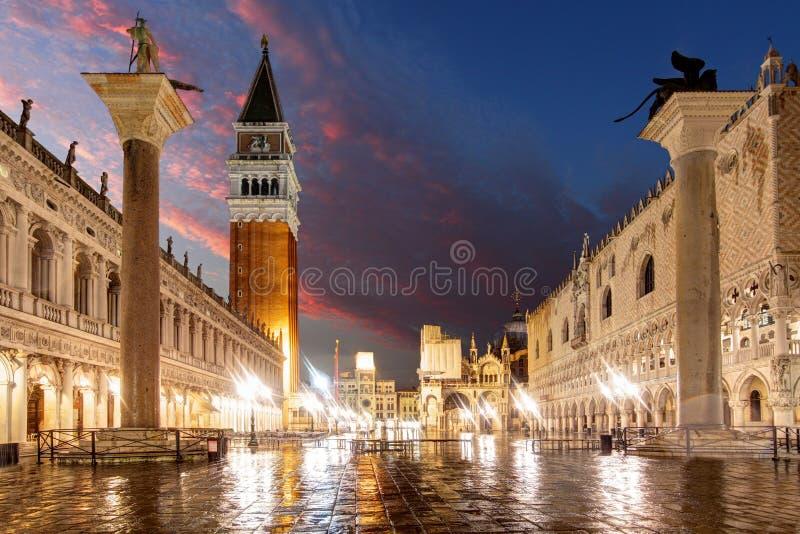 San Marco kwadrat, Wenecja Włochy zdjęcia stock