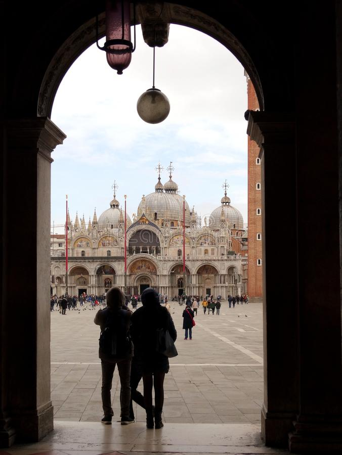 San Marco sqare i Venedig, Italien arkivfoton