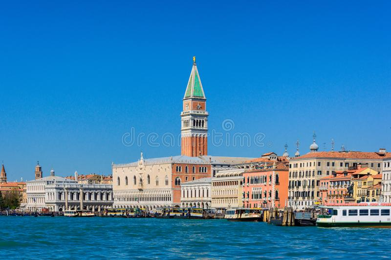 San marco square on a sunny day in Venice,Italy 2015 April stock photo