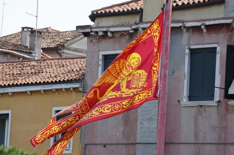 San Marco venetian Flag stock photo