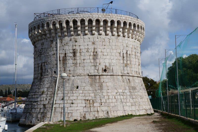 San Marco Venetian tower in Trogir royalty free stock image