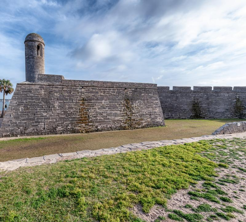 San Marcos Castle in St. Augustine, Florida, Ancient fort royalty free stock photography