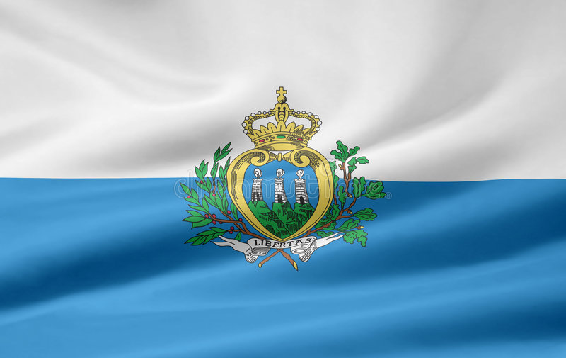 San marino bandery ilustracji