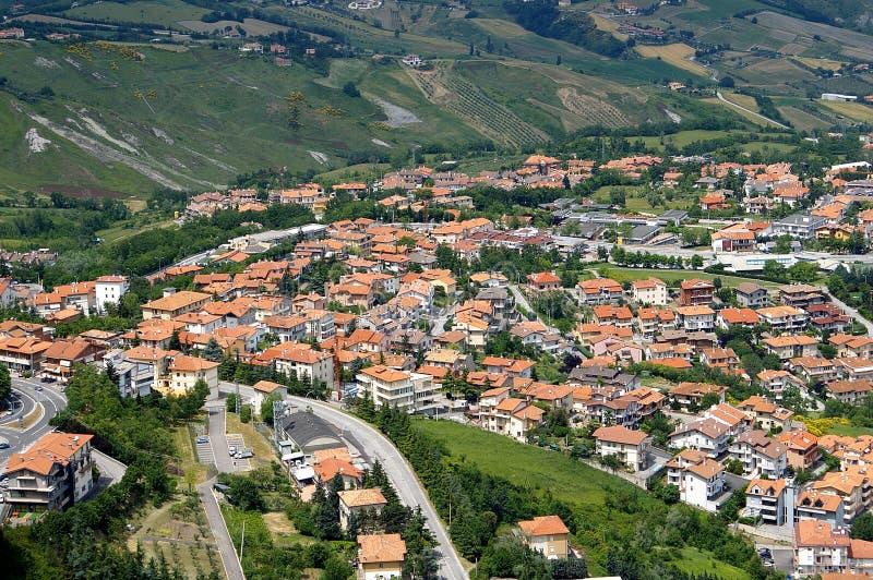 San Marino birdview stockfotos