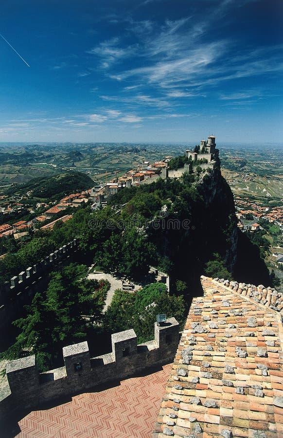 San marino, castle zdjęcie stock