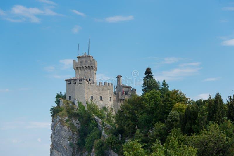 San marino, castle zdjęcie royalty free