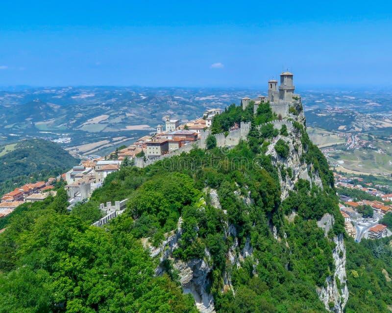 San Marino Castle, Republik San Marino stockfotografie