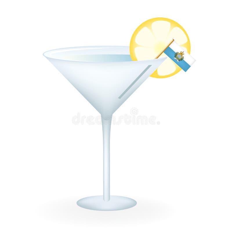 San Marino Cocktail royalty-vrije stock afbeelding