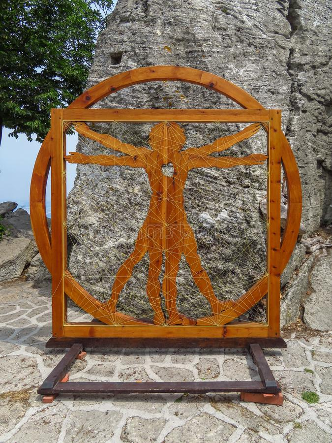 San Marino - DA Vinci Golden Ratio stock foto